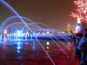 Xian fountain and light show