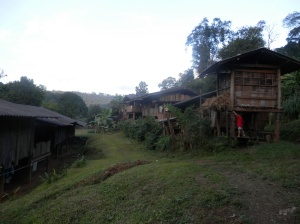A hilltribe village
