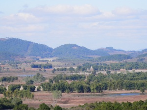 Views from Site 2 of the Plain of Jars