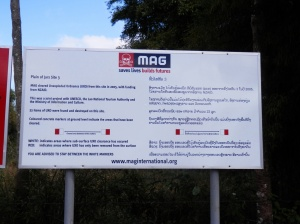 MAG have cleared the sites of UXOs