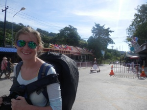 Crossing the border from Cambodia to Thailand