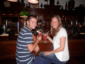 Singapore Slings at the Long Bar, Raffles Hotel