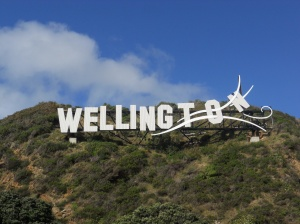 The Wellywood sign