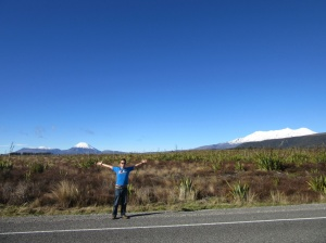 Tongariro, Ngauruhoe, me and Ruapehu