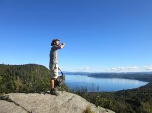 Over Kawakawa Bay, about 13km in!