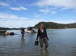 Heading off on the Abel Tasman track