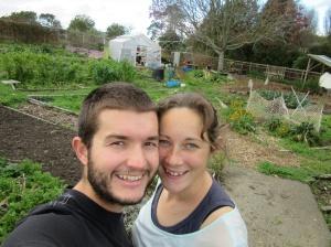 Community garden selfie