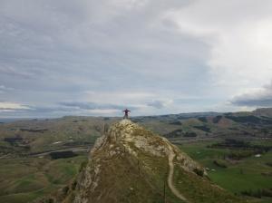 At the top of Te Mata peak