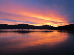 An Akaroa sunset