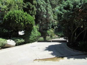 Hef's front gate