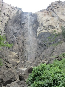 Bridalveil Falls, almost completely dry because it's summer