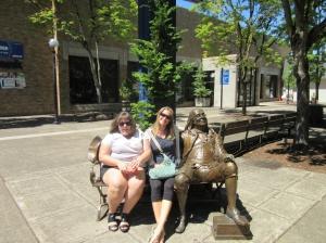 Erin, Laura and Ben Franklin
