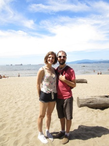 Beach stop in Vancouver