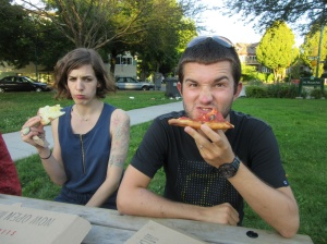 Pizza in the park.